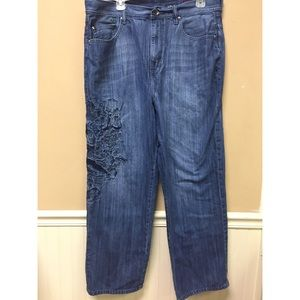 Ecko Unlimited Mens Jeans Baggy Fit  Size 36